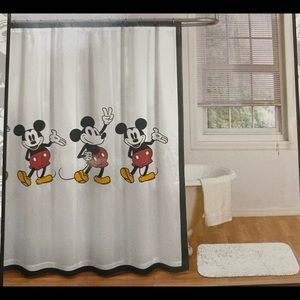 Mickey Mouse 100% Cotton Shower Curtain